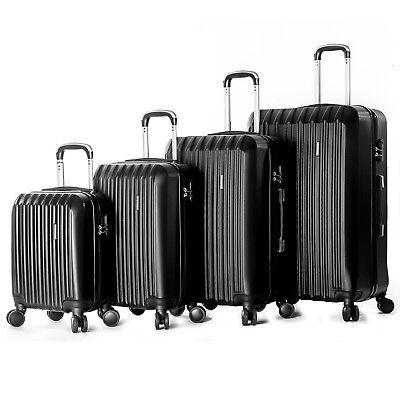 """4 Piece ABS Luggage Set Light Travel Case Hardshell Suitcase 16""""20""""24""""28"""" 2"""