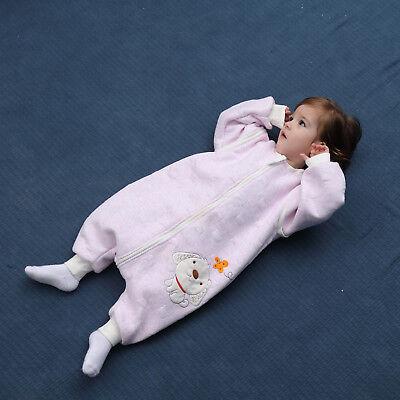 Baby Toddler Kids 100% Cotton Wearable Organic Blanket Sleeping Bag Winter Wrap 8