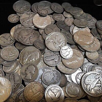 "$2.50 Face Value Mixed 90% US Silver Coins Halves Quarters Dimes ""Junk Silver"" 2"