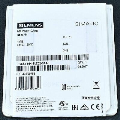 6ES7954-8LC02-0AA0 1PC New Siemens 4MB Memory Card free ship 6ES7 954-8LC02-0AA0 3