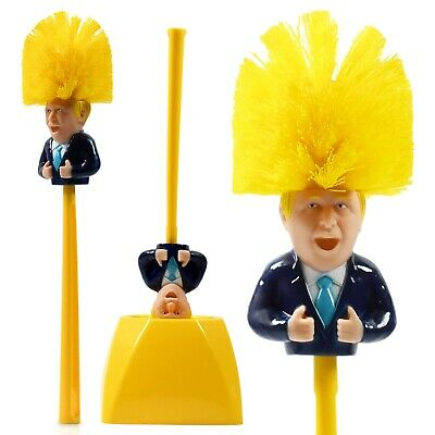 Boris Johnson Toilet Brush,Satire,Fun Novelty Gift, Secret Santa Brush Prank 6