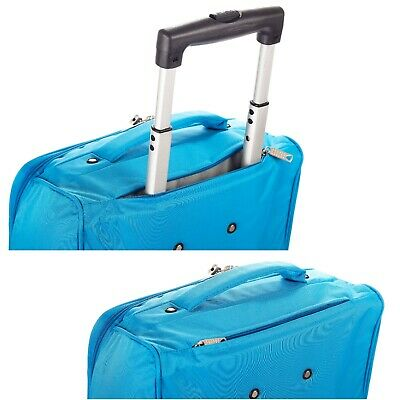 """Foldable Rolling 20"""" Bag Carry on Luggage Travel Lightweight Black Red Blue 3"""
