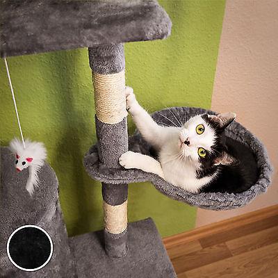 Arbre à chat griffoir grattoir jouet animaux douillet et peluché noir 4