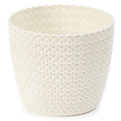Plant pot cover indoor plastic rattan flower cover round modern decor planter 11