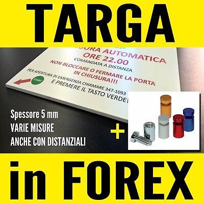 TARGA IN FOREX (VARIE MISURE) PERSONALIZZATA CON LOGO e SCRITTE UFFICIO STUDIO 2