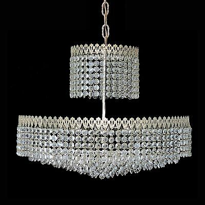 Elegant Large 8 Tier Crystal Beads Wedding Cake Bakalowits Era Chrome Chandelier 5