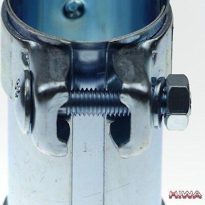 Universal Auspuffverbinder Verbinder Schelle Doppelschelle Ø 58-62,5 mm L = 90