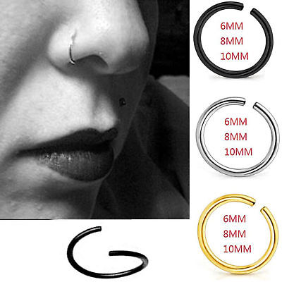 2pcs FAKE NOSE RING HOOP SEPTUM RING CARTILAGE TRAGUS HELIX CONCH DAITH EARRING 4