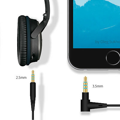 Cable Remote Mic For Bose QuietComfort 25 35 QC25 QC35 Headphone Android Phone