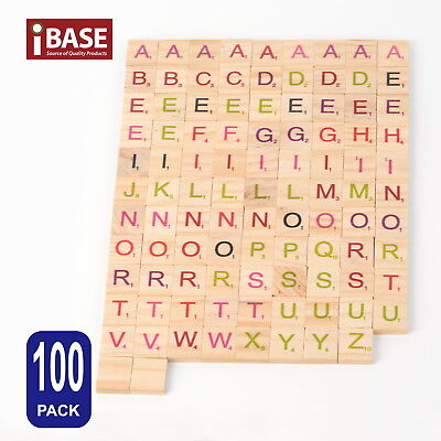 Wooden Alphabet Scrabble Tile Number Scrapbooking Handcraft Letter set Complete 8