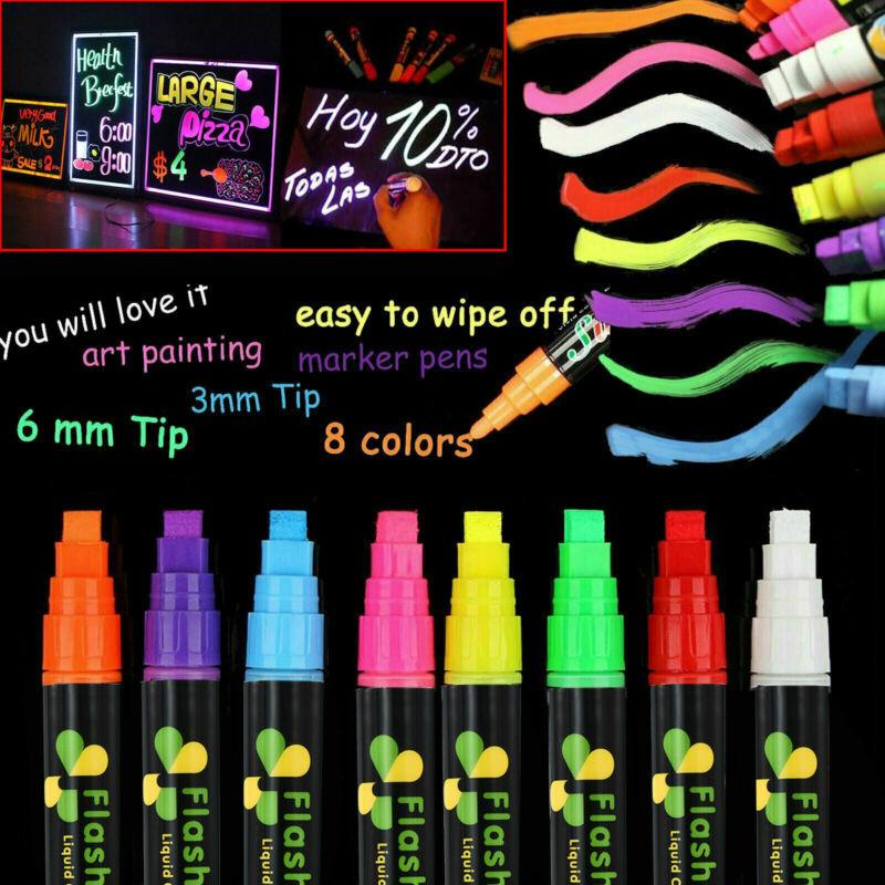 (8 Colors) Liquid Chalk Markers Erasable Chalkboard Pen for Blackboard or Glass 2