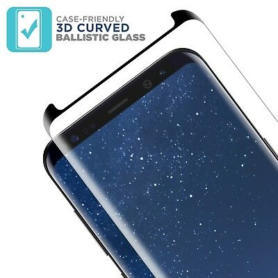 Case Friendly Curved Tempered Glass Screen Protector for Samsung Galaxy S9 S9+ 3