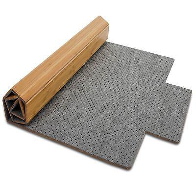 casa pura® Bambus Bodenschutzmatte mit Lippe Bürostuhlunterlage Stuhlunterlage