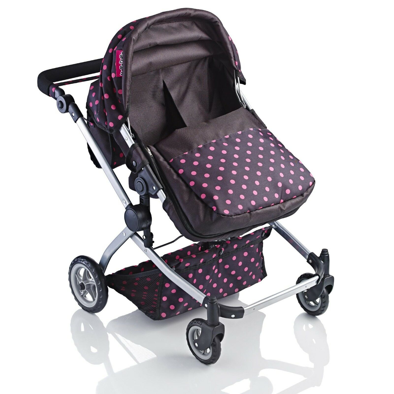 Molly Dolly 2 in 1 Twin Deluxe Babyboo Doll Stroller/Pram Buggy Girls Junior Toy 4