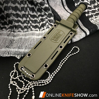 """6"""" TACTICAL COMBAT SURVIVAL Tan Spear HUNTING KNIFE Bowie Military Fixed Blade 4"""