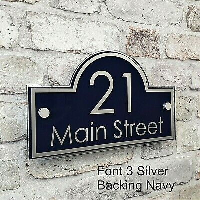 Contemporary House Address Plaques & Door Number Signs Personalised Name Plate 7