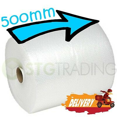 1 SMALL BUBBLE WRAP ROLL 500mm WIDE x 75 METRES LONG PACKAGING CUSHIONING - NEW 3