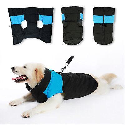 Large Dog jacket padded waterproof Pet Clothes Warm windbreaker Vest Coat Winter 2