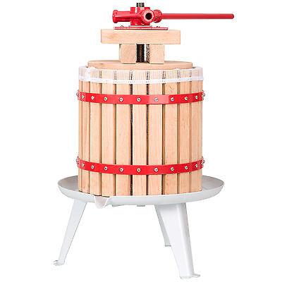 Pressoir à baies fruit jus manuel presse mécanique pommes vin bois de chêne 12 L 2