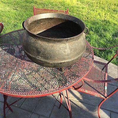 Antique Vintage Large Cast Iron  Witches Cauldron Cast-Iron Pot Awesome 3