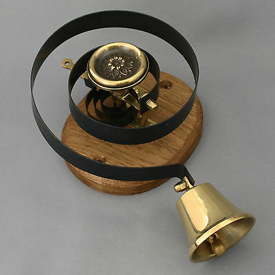 Brass Claverley Front Door Bell Pull & Bell 3