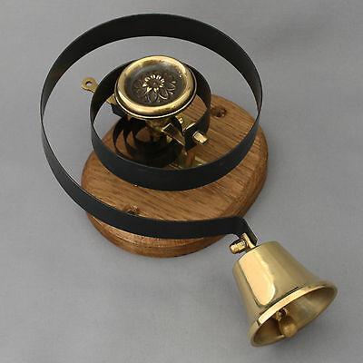 Victorian Style Brass Claverley Front Door Bell Pull & Bell 3