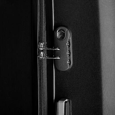 """4 Piece ABS Luggage Set Light Travel Case Hardshell Suitcase 16""""20""""24""""28"""" 8"""