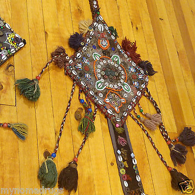 Three 1'1''x2'5''Antique 1900-1930s Tribal Decorative Ceremonial Wall Hanging 6
