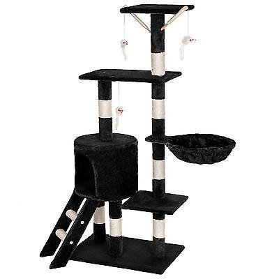 Arbre à chat griffoir grattoir jouet animaux douillet et peluché noir 7