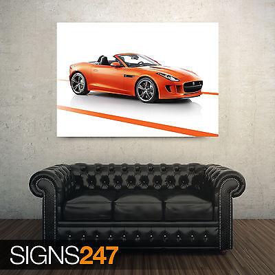 AA879 CAR POSTER Photo Poster Print Art * All Sizes JAGUAR F TYPE BLACK PACK