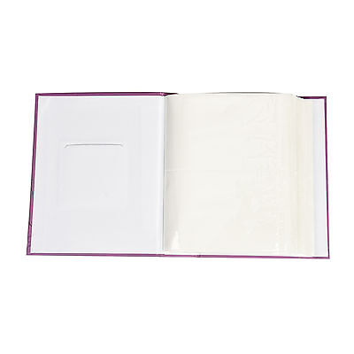 "6x4"" 200 Photos Large Slip in Photo Album with front Window - Purple"