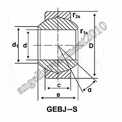 1pc new GEBK16S Spherical Plain Radial Bearing 16x38x21mm