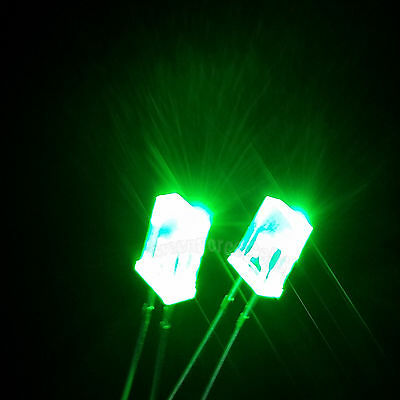2x5x7mm Water Clear Diffused 8 Colours Rectangle Square LED Diodes U3