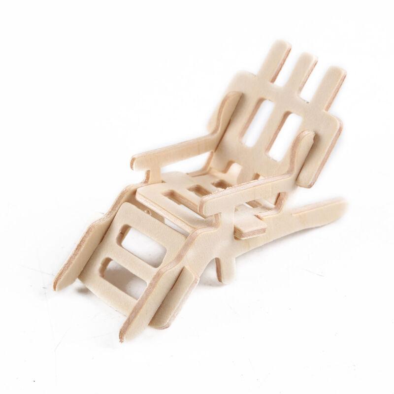 34Pcs/ Set Vintage Wooden Furniture Dolls House Miniature Toys Kids Gifts New 7
