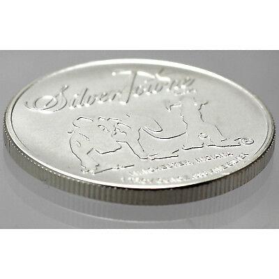 SilverTowne Prospector Waffleback Trademark Logo 1 oz .999 Silver Medallion 5 pc 4
