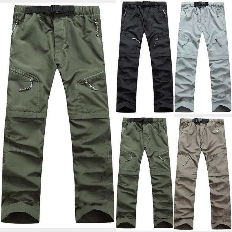 Herren Outdoor Wanderhose Freizeithose Zip Off Cargohose Shorts Trekking Hose XL
