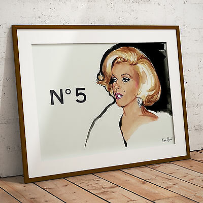 Marilyn Monroe Chanel No 5 Perfume Poster Framed or Three Print Options NEW 2
