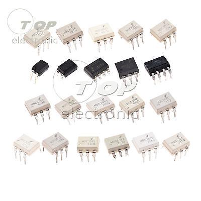 Optocoupler MOC3010-MOC8101 MOC3021 MOC3041 MOC3083 LTV827 PC123 PC847 3