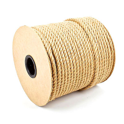 Natural Jute Rope Twisted Braided Decking Garden Boating Sash 6-60mm up to 500m 2
