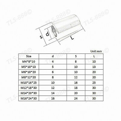 M3 to M16 Round Rod Bar Stud Connector Long Coupling Nuts - A2 304 Stainless 4
