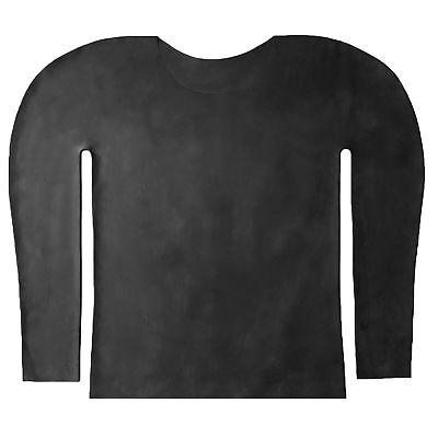 Langarm Latex Hemd aus Rubber in schwarz, Einheitsgröße 4