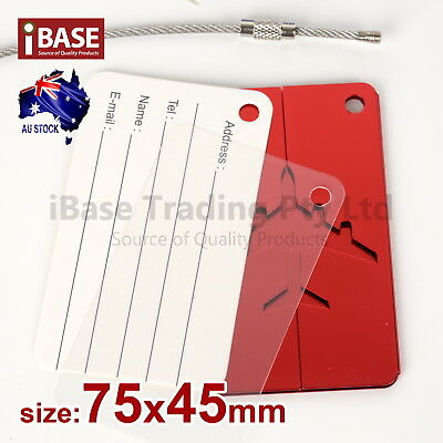 Luggage Tag Aluminium Travel Baggage Suitcase Identity Address Name Label Red 2