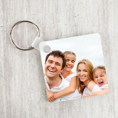 Personalised Photo Keyring Any Picture Custom Keychain Double-Single Side Print 2