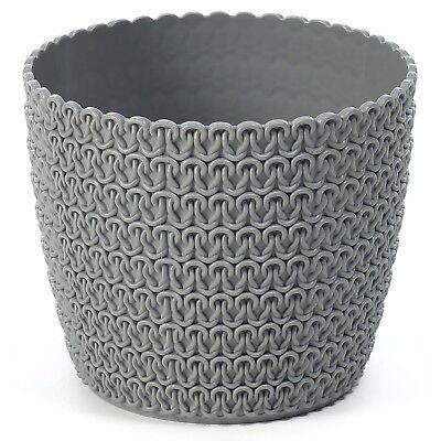 Plant pot cover indoor plastic rattan flower cover round modern decor planter 5