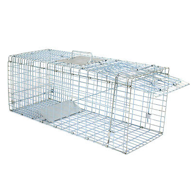 32'' Humane Live Animal Trap 1 Door Rodent Cage for Rabbits Cat Raccoon Squirrel 5