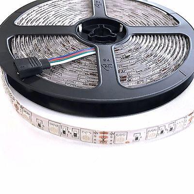 5050 RGB 5M 300 LEDS SMD LED Strip Light 12V Waterproof 24 KEY IR Controller 3