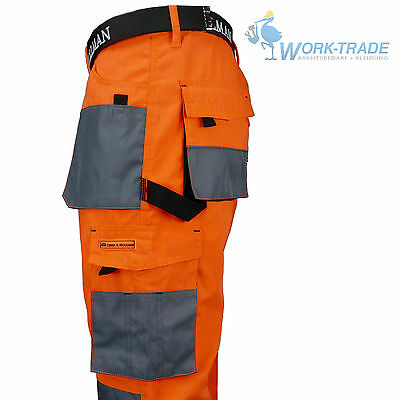 Arbeitshose Bundhose Arbeitskleidung Herren Hose Orange Grau Schwarz Gr. 46 - 62