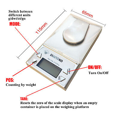 High Precision 0.001g/50g Digital Pocket Scales Jewellery Electronic Milligram 3