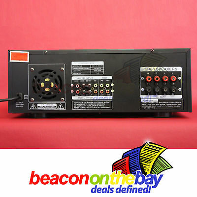 ASHTEC 1200w Bluetooth Mixer Amplifier Speakers Cordless Microphone Karaoke DJ 4