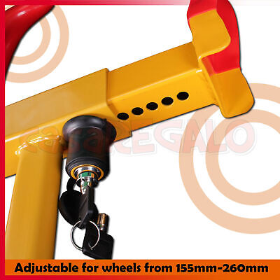 Wheel Lock Clamp Heavy Duty Anti-theft For Vehicle Car Trailer with 2 Keys 3